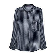 Buy Violeta by Mango Geometric Printed Blouse, Navy Online at johnlewis.com