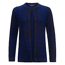 Buy Jaeger Abstract Spot Print Cardigan, Navy/True Blue Online at johnlewis.com