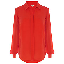 Buy Wishbone Astrid Silk Shirt, Orange Online at johnlewis.com