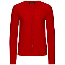 Buy Jaeger Short Cashmere Cardigan, Cherry Online at johnlewis.com