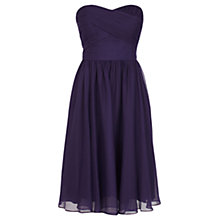 Buy Coast Costa Short Dress, Grape Online at johnlewis.com