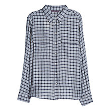 Buy Violeta by Mango Check Print Blouse, Navy Online at johnlewis.com