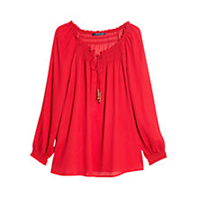 Buy Violeta by Mango Drawstring Neck Blouse Online at johnlewis.com