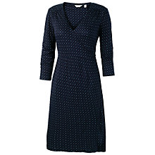 Buy Fat Face Geo Ditsy Print Wrap Dress, Navy Online at johnlewis.com