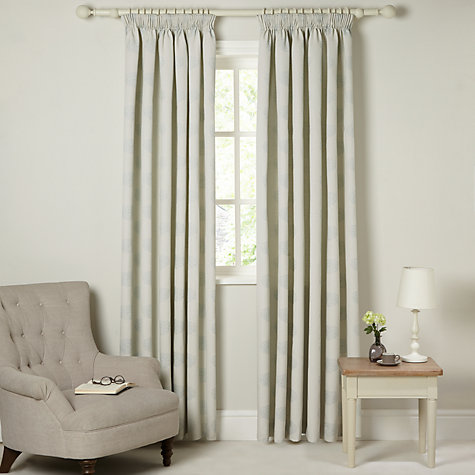 Buy John Lewis Water Lily Lined Pencil Pleat Curtains, Duck Egg Online at johnlewis.com