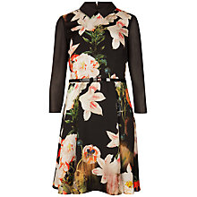 Buy Ted Baker Opulent Bloom Shirt Dress, Black Online at johnlewis.com