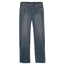 Buy Violeta by Mango Vintage Wash Bootcut Marta Jeans, Dark Blue Online at johnlewis.com