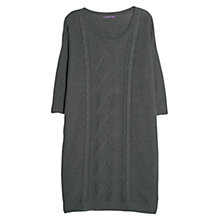 Buy Violeta by Mango Aran Knitted Dress, Dark Grey Online at johnlewis.com
