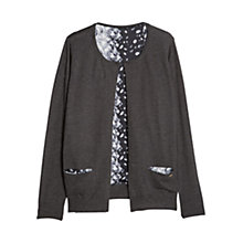 Buy Violeta by Mango Printed Lining Cardigan, Dark Grey Online at johnlewis.com