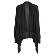 Buy Mango Waterfall Cardigan, Black Online at johnlewis.com