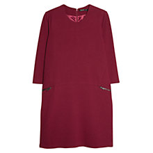 Buy Mango Zip Shift Dress, Dark Purple Online at johnlewis.com
