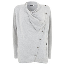 Buy Mint Velvet Asymmetric Button Cardigan, Grey Online at johnlewis.com