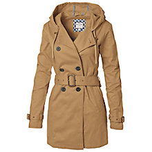 Buy Fat Face Harrogate Hooded Mac, Camel Online at johnlewis.com