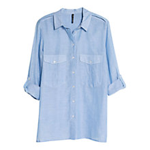 Buy Mango Chest Pocket Shirt, Medium Blue Online at johnlewis.com