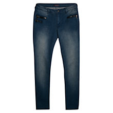 Buy Violeta by Mango Distressed Slim Fit Cadenity Jeans, Medium Blue Online at johnlewis.com