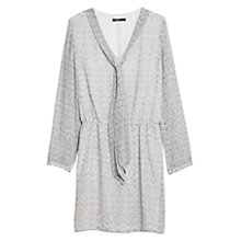 Buy Mango Bow Printed Dress, Medium Grey Online at johnlewis.com