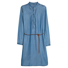 Buy Violeta by Mango Tencel Cord Belt Dress, Medium Blue Online at johnlewis.com