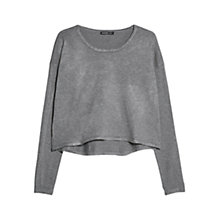 Buy Mango Cropped Sweater, Medium Grey Online at johnlewis.com