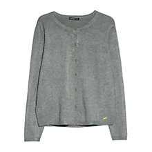 Buy Mango Basic Round Neck Cardigan Online at johnlewis.com