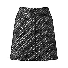 Buy Jigsaw Textured Tweed Mini Skirt, Black Online at johnlewis.com