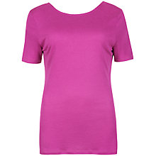 Buy Ted Baker V-Back T-Shirt, Fuchsia Online at johnlewis.com