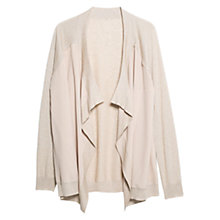 Buy Violeta by Mango Waterfall Cardigan, Light Pastel Brown Online at johnlewis.com