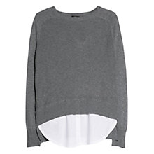 Buy Mango Luxury Ribbed Jumper, Grey Online at johnlewis.com