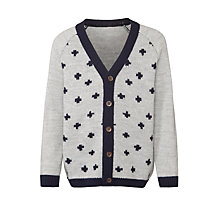 Buy Donna Wilson for John Lewis Girls' Criss Cross Cardigan, Grey Online at johnlewis.com