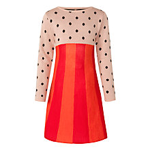 Buy Donna Wilson for John Lewis Girls' Spot and Stripe Dress, Red/Multi Online at johnlewis.com