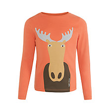 Buy Donna Wilson for John Lewis Reindeer Long Sleeve T-Shirt, Orange Online at johnlewis.com