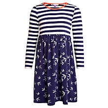 Buy John Lewis Girl Swallow Print Stripe Dress Online at johnlewis.com