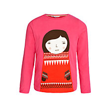 Buy Donna Wilson for John Lewis Ingrid Long Sleeve T-Shirt, Pink Online at johnlewis.com