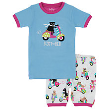 Buy Hatley Girls' Dog Scooter Short Pyjamas, Blue/Multi Online at johnlewis.com