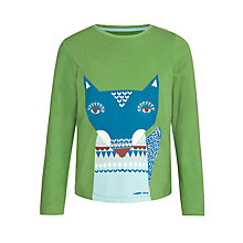 Buy Donna Wilson for John Lewis Wolf Long Sleeve T-Shirt, Green Online at johnlewis.com