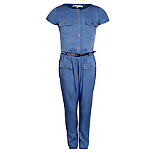 Buy John Lewis Girl Short Sleeve Jumpsuit, Navy Online at johnlewis.com
