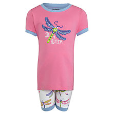 Buy Hatley Girls' Dragonfly Pyjamas, Pink Online at johnlewis.com