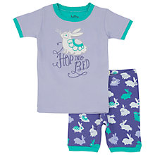 Buy Hatley Girls' Fluffy Bunny Short Pyjamas, Purple/Greem Online at johnlewis.com