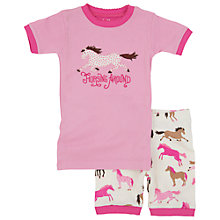 Buy Hatley Girls' Hearts and Horses Short Pyjamas, Pink/Cream Online at johnlewis.com