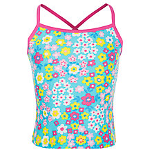 Buy John Lewis Girl Flowerbox Tankini Top, Multi Online at johnlewis.com