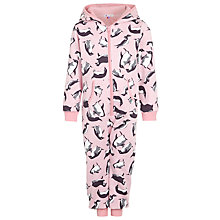Buy John Lewis Girl Monty & Mabel Onesie, Pink Online at johnlewis.com