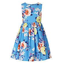 Buy John Lewis Girl Floral Print Sleeveless Dress, Blue/Multi Online at johnlewis.com
