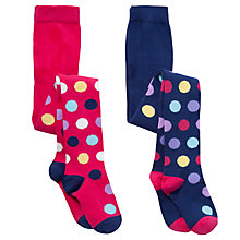 Buy John Lewis Girl Spotted Tights, Pack of 2 Online at johnlewis.com