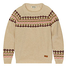 Buy Barbour Girls' Norwood Jumper, Cream Online at johnlewis.com