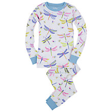 Buy Hatley Girl's Dragonflies Pyjamas, Cream Online at johnlewis.com