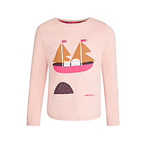 Buy Donna Wilson for John Lewis Owl and Cat Long Sleeve T-Shirt, Pink Online at johnlewis.com