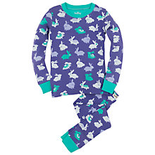Buy Hatley Girl's Fluffy Bunny Pyjamas, Purple Online at johnlewis.com
