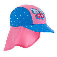 Buy John Lewis Children's Keppi Swim Hat, Pink/Blue Online at johnlewis.com