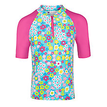 Buy John Lewis Girl Flowerbox Rash Vest, Multi Online at johnlewis.com