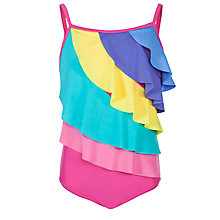 Buy John Lewis Girl Frill Front Swimsuit, Multi Online at johnlewis.com