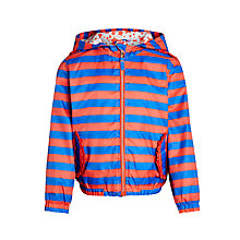 Buy John Lewis Girl Stripe Bomber Jacket, Red/Blue Online at johnlewis.com